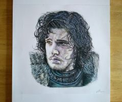 Jon Snow by aaronbakerart