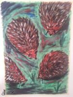 Art therapy: Hedgehog's dilemma 05.08.14 by BazarDeLaNature