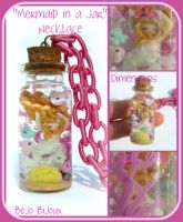 Mermaid in a jar Necklace by Bojo-Bijoux
