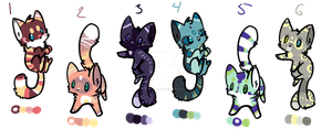 Kitty Adoptables- THREE LEFT by BlueW-i-n-g-sAdopts