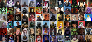 A Collage of My Favorite Villains by Gojilion91