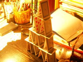 Card tower by White-Angel-1