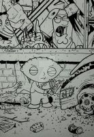 THE WALKING DEAD ISSUE 1 STEWIE GRIFFIN INKED by BUMCHEEKS2