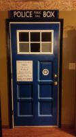 TARDIS Door by swiftheartstudios