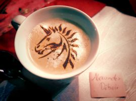 Coffee Art: Unicorn by Deboir