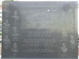 Daytona Beach Race Plaque by BackMasker