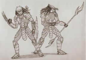 Predators by Sil-Pencil