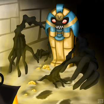 Gen 5 Pokemon Collaboration: Cofagrigus by Smilefacekranaatti
