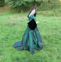 green tudor gown by Abigial709b