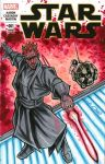 Darth Maul Sketch Cover by bphudson