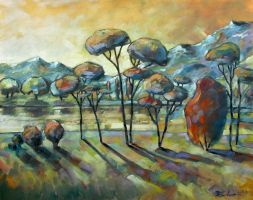 Landscape M.  oil paint by Boias