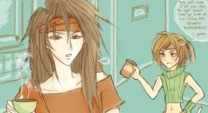 FF7: The Morning After by feudaljune