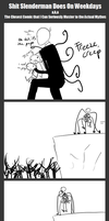 Shit Slenderman Does on Weekdays by redrumTerror