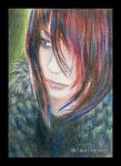 Ariel - ACEO of Angel by Carol-Moore
