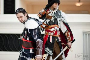 Ezio and Oldzio Katsucon 2012 by Winged-Mouz