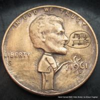 Hand Carved Potty Penny by Shaun Hughes by shaun750