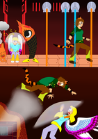 Fablesisters Undertale. Hotland encounter by FableworldNA