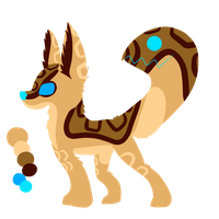 *CLOSED* Mouth Tailed Fox Point Adopt by NeonMonsterBytes