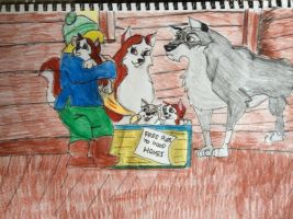 Balto and Jenna's pups find new homes by Alyssaeve