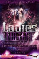 Ladies Night Party Flyer by V1sualPoetry