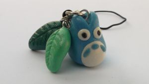Blue Totoro Cell Phone Charm by naga-kkw87