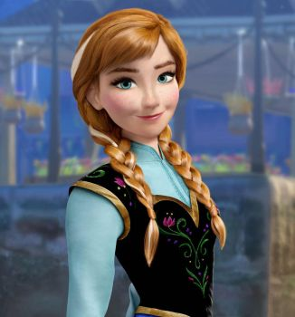 Anna Frozen realistic by andyisa93