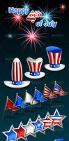 4th of July Celebration Vector Pack by mfcoelho