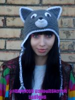 Crochet Wolf Hat by NightsMemories