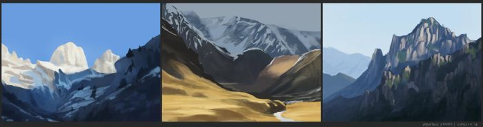 mountain studies by neylica