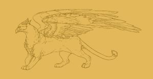 Gryphon Lineart by Puppy-Chow