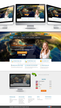 Mobile Globe Homepage Web Design by NickchouBG