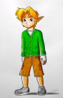 Young Link In Today's clothes. by LevelInfinitum