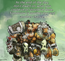 Motivational Quote: Grommash and Durotan by aokamidu