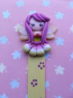 Lilac bookmark by Libellulina