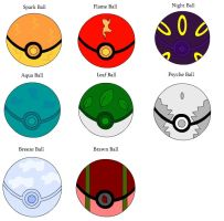 TOTT      New Custom Pokeballs by Sajirou