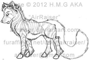 Adoptable Sale: Red Zendra sketch 2012 by AirRaiser