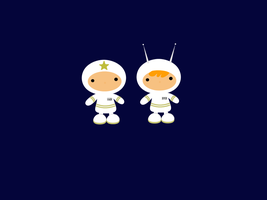 Salt and Pepper in Space by hannabearr