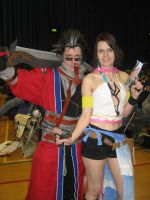 SunnyCon-2 Auron and Yuna by TheGirlCalledJef