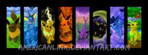 Eevee Evolution Bookmarks by querulousArtisan
