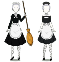 The Maids Costumes (w/codes) by daria1234567