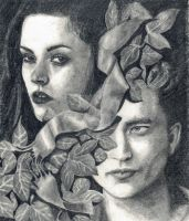 Edward Cullen and Bella Swan by ktparkes