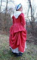 1770's Rose Gown Back I by Goldenspring
