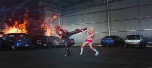 Tekken - Hwoarang vs Lili by beethy