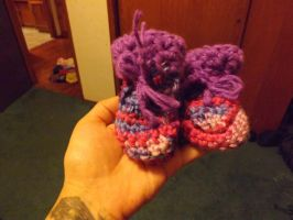 Baby Booties by lovechairmanmeow