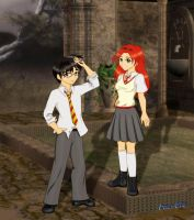 James and Lilly Potter colored by Dona-chan