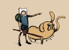 Finn and Jake by joaquingodoy