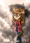 Walking under the rain by Monsethehedgehog
