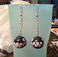 Chain Chomp Earrings by Red-Flare