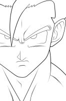 Gohan - HS. :Lineart: by moxie2D