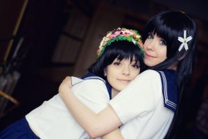Saten and Uiharu cosplay by Tenori-Tiger